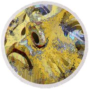 Shattered Illusions Round Beach Towel
