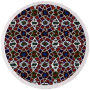 Shattered Jewels Round Beach Towel
