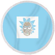 Shattered Reflection Series Round Beach Towel