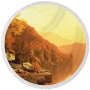 Shawanagunk Mountains Round Beach Towel