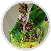 Pow Wow Shawl Dancer 3 Round Beach Towel