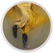 Pow Wow Shawl Dancer 9 Round Beach Towel