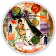 She Remained True Round Beach Towel