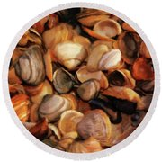 She Sells Sea Shells Round Beach Towel