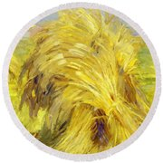 Sheaf Of Grain 1907 Round Beach Towel