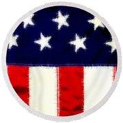 Shear Flag Round Beach Towel