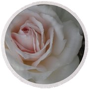 Sheer Bliss Rose Round Beach Towel
