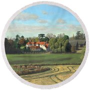 Sheering Hall Near Harlow Essex Round Beach Towel