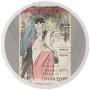 Sheet Music Dans Lxviiieme By Achille Bloch And Louis Byrec, Performed By Farville And Reschal Theo Round Beach Towel