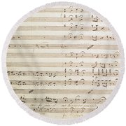 Sheet Music For The Barber Of Seville By Rossini  Round Beach Towel
