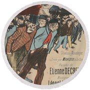 Sheet Music Le Roi Misere By Etienne Decrept And Leopold Gangloff, Performed By Mevisto Theophile Al Round Beach Towel