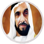Sheikh Zayed Round Beach Towel