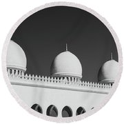 Sheikh Zayed White Mosque Round Beach Towel