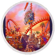 Sheikra Ride Poster 3 Round Beach Towel