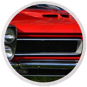 Red Gto Round Beach Towel