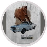 Shelby Gt350 Round Beach Towel