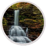 Sheldon Reynolds Falls Round Beach Towel