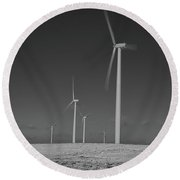 Sheldon Wind Farm 14955 Round Beach Towel