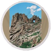 Shelf Road Rock Formations Round Beach Towel