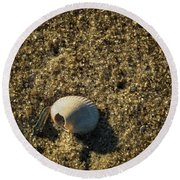 Shell At Dawn Round Beach Towel