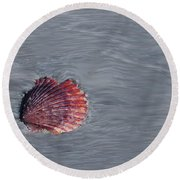 Shell Imprint Round Beach Towel