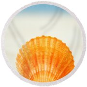 Shell On Beach Round Beach Towel