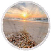 Shell Point Round Beach Towel