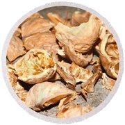 Shells Of Nut Round Beach Towel