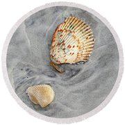 Shells On The Beach II Round Beach Towel
