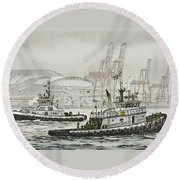 Shelly And Wedell Foss Round Beach Towel