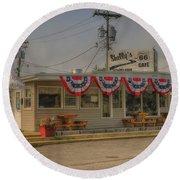 Shellys Route 66 Cafe Cuba Mo Dsc05554 Round Beach Towel