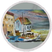 Shelter Bay Round Beach Towel