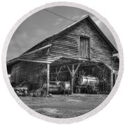 Shelter From The Storm 2 Wrayswood Barn Round Beach Towel