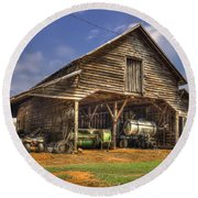 Shelter From The Storm Wrayswood Barn Round Beach Towel