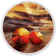 Shelter Round Beach Towel by Jacky Gerritsen