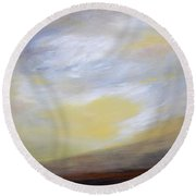 Sheltering Sky Round Beach Towel