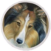 Sheltie - Collie Round Beach Towel