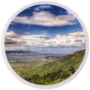 Shenandoah National Park - Sky And Clouds Round Beach Towel