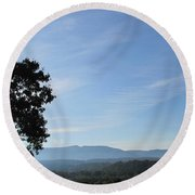 Shenandoah Valley Round Beach Towel