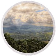 Shenandoah Valley - Storm Rolling In Round Beach Towel