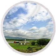 Shenandoah Valley West Virginia Scenic Series Round Beach Towel