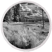 Shepard Lake Round Beach Towel