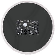 Shepherds Field Church Ceiling Round Beach Towel