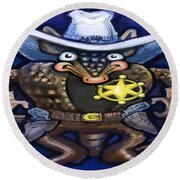 Sheriff Dillo Round Beach Towel