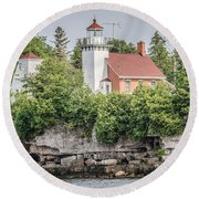Sherwood Point Lighthouse Round Beach Towel