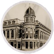 Shibe Park 1913 In Sepia Round Beach Towel