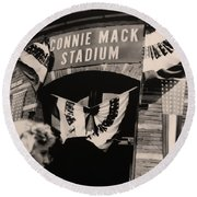 Shibe Park - Connie Mack Stadium Round Beach Towel by Bill Cannon