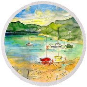 Shieldaig In Scotland 03 Round Beach Towel