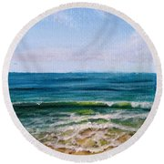 Shifting Sands Round Beach Towel