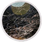Shimmering Branches Round Beach Towel
